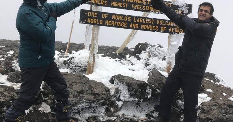 Dr Arora conquers Mt Kilimanjaro
